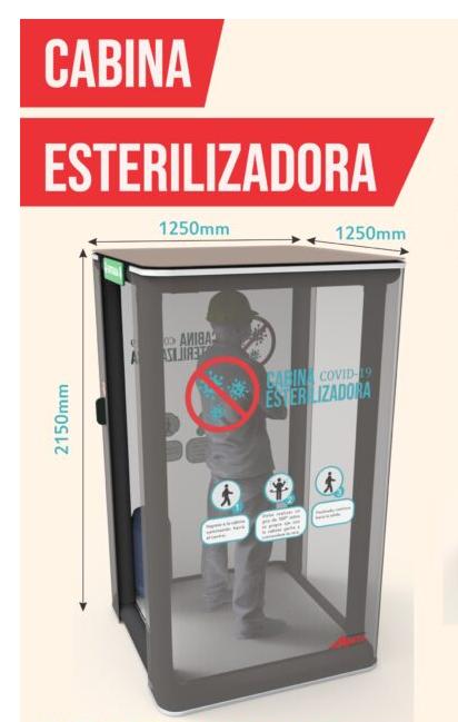 "Cabina esterilizadora Abati ""uso sanitario para desinfección"" Covid-19"