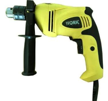Taladro percutor 600 W + Amoladora 650 W Work