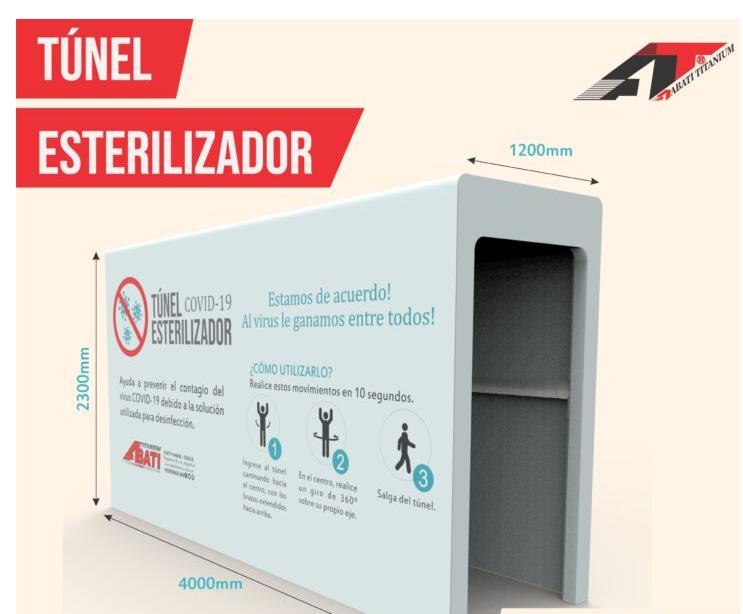 Túnel Abati sanitario esterilizador covid-19